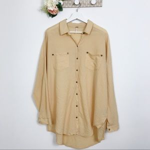 Free People long sleeve button down oversized S